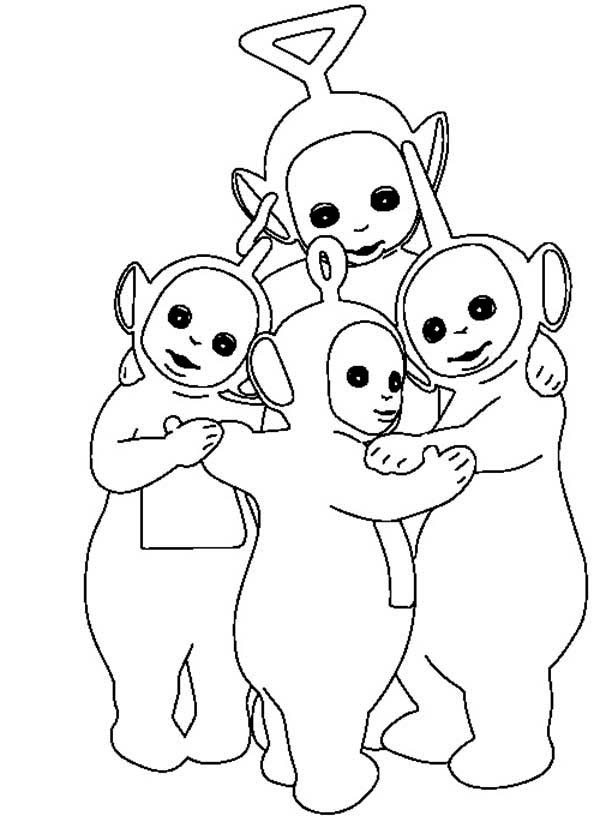 teletubbies free colouring pages