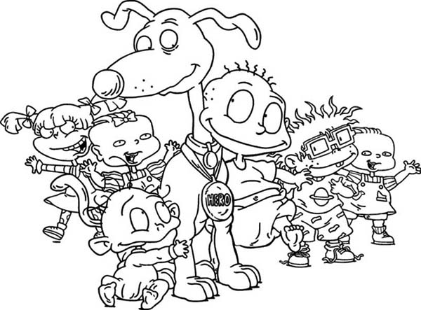 how to draw the rugrats characters coloring page - Rugrats Characters Coloring Pages