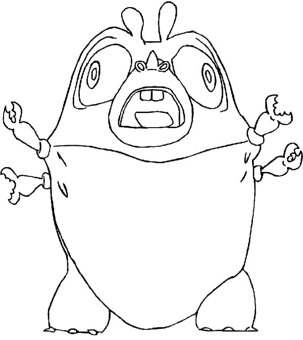 insectosaurus scream in monster vs aliens coloring page