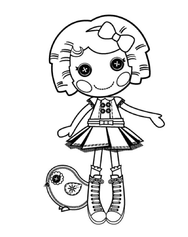 Lalaloopsy, : Its a Blast say Dot Starlight in Lalaloopsy Coloring Page