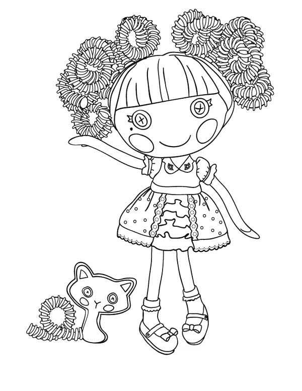 jewel sparkles from lalaloopsy coloring page - Lalaloopsy Coloring Pages Mittens