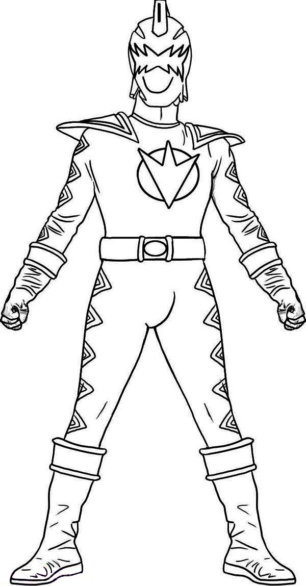 Kids Drawing Of Power Rangers Coloring Page