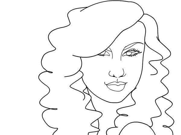 Taylor Swift, : Taylor Swift Coloring Page