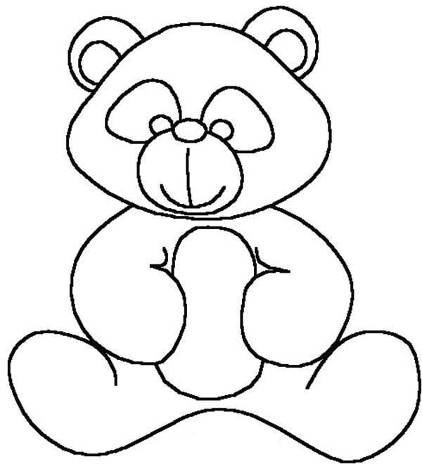 kids drawing of teddy bear coloring page - Drawing For Kids To Color