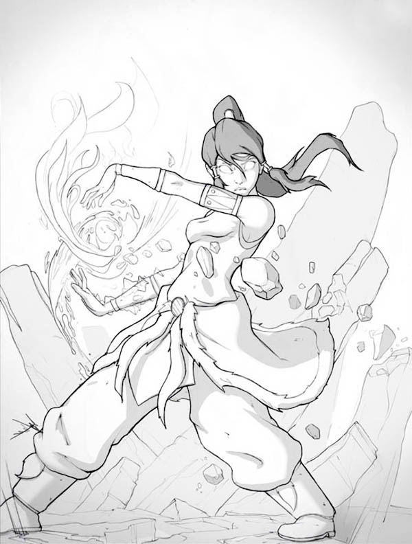 The Legend of Korra, : Korra Become Fought in Avatar Form Coloring Page