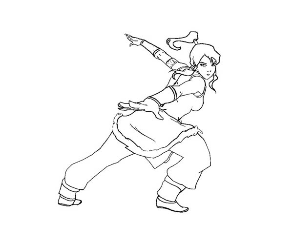 The Legend of Korra, : Korra Coloring Page for Kids
