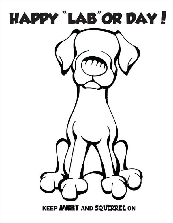 Labor Day, : Labor Day Joke Coloring Page