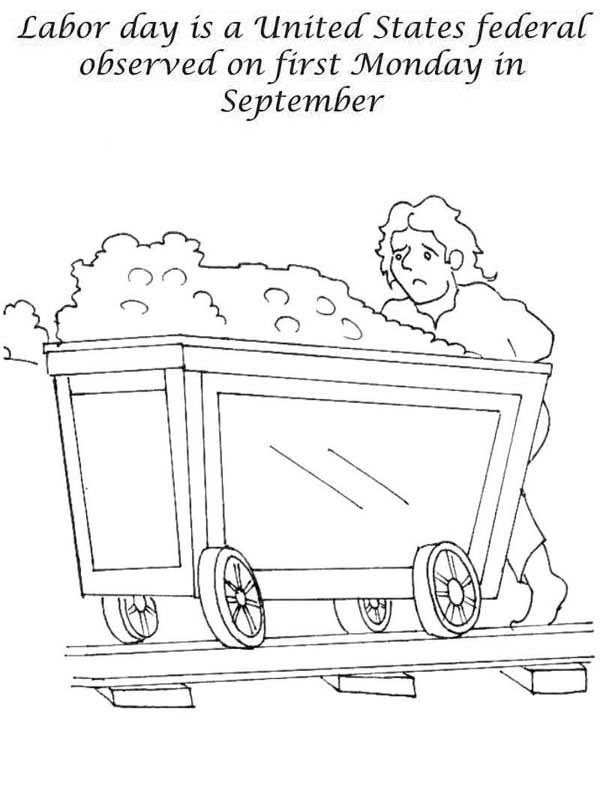 Labor Day, : Labor Day in United States Federal Observed on First Monday in September Coloring Page
