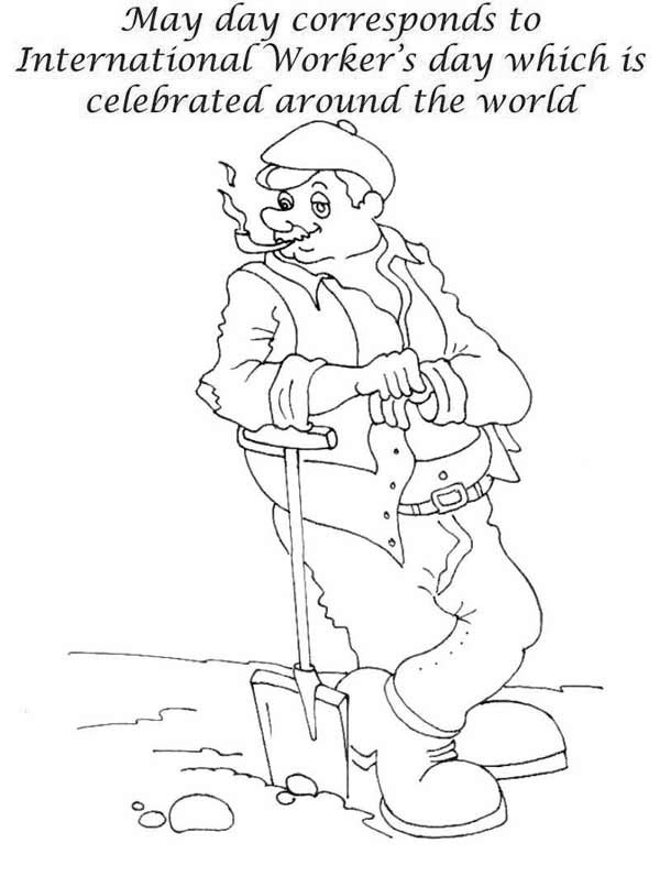 Labor Day, : Labor Day is International Workers Day Coloring Page