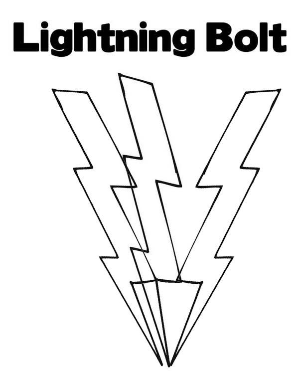lightning bolt coloring pages | Lighting Bolt Coloring Page for Kids: Lighting Bolt ...