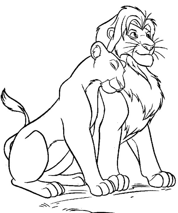 Lion coloring page color luna for Lion king christmas coloring pages