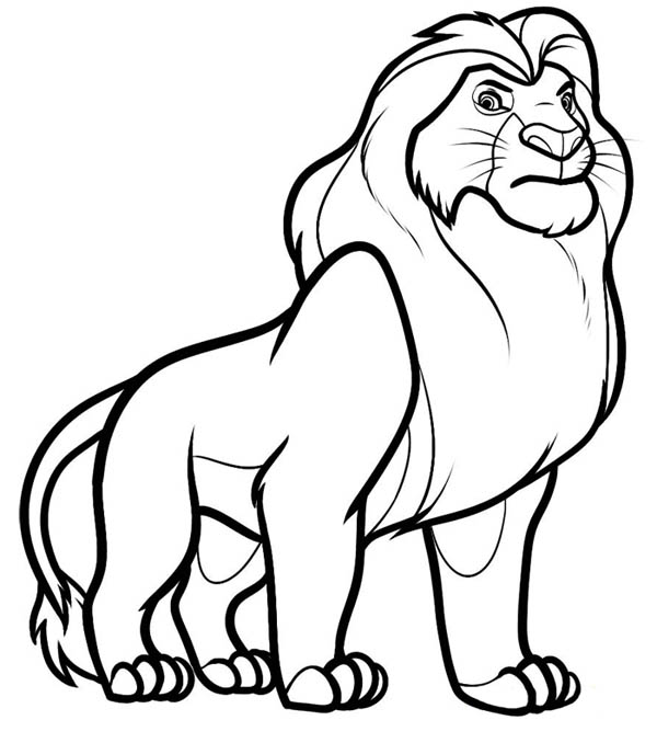 lion king coloring page