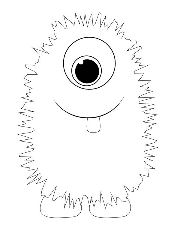 monster dog coloring pages - photo #12