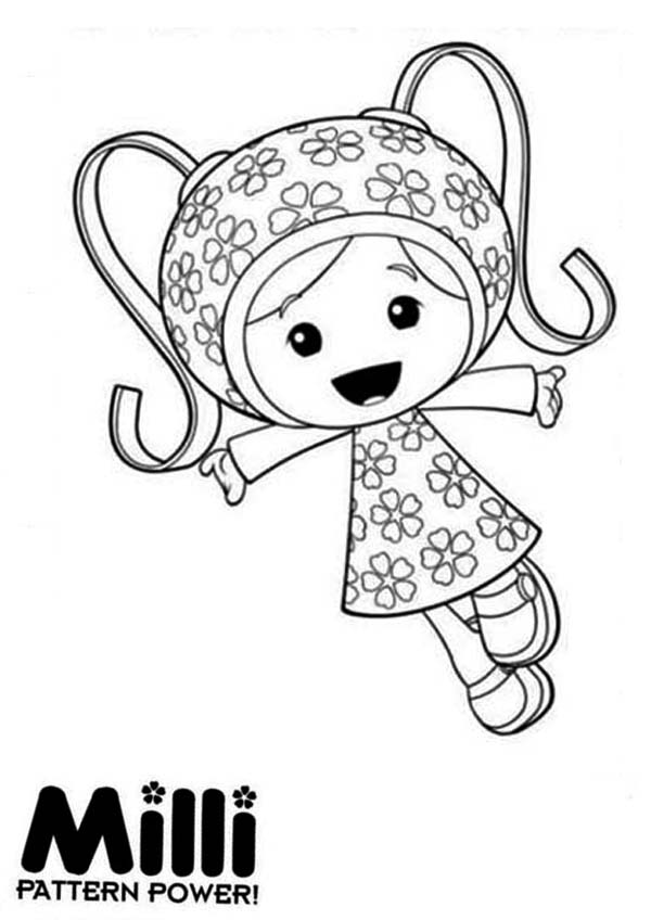 Milli and Her Pattern Power in Team Umizoomi Coloring Page | Color Luna