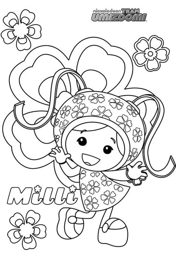 Team Umizoomi, : Milli from Team Umizoomi Coloring Page