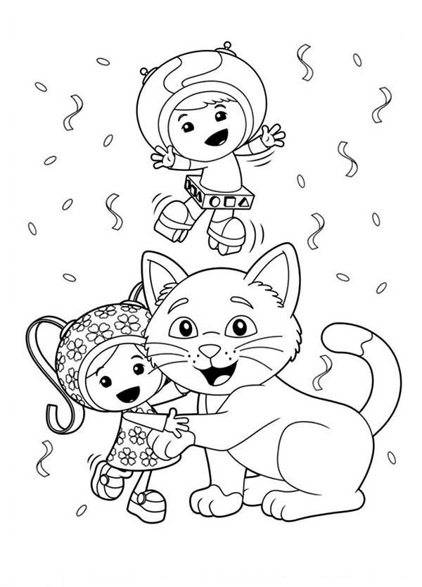 Milli is Kitten Love in Team Umizoomi Coloring Page | Color Luna