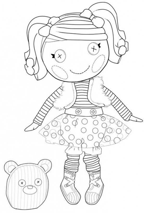 lalaloopsy coloring pages - mitten fliff n stuff from lalaloopsy coloring page color