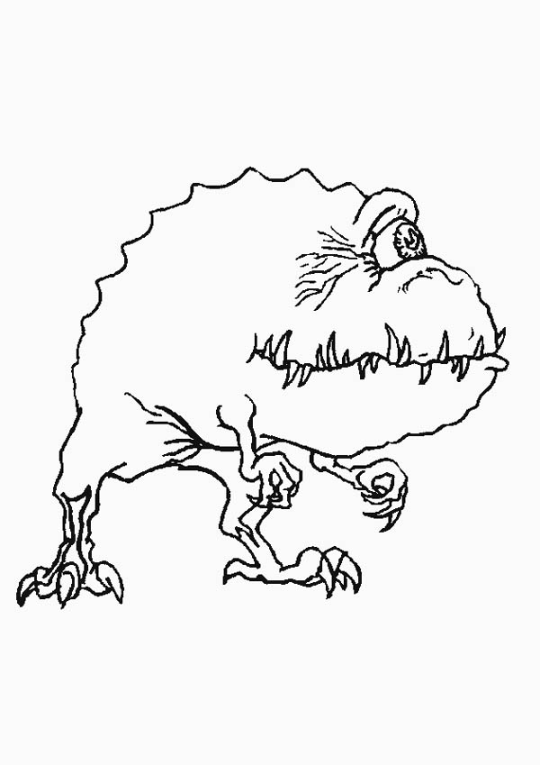 Monsters, : Monster Looking for His Next Victim Coloring Page