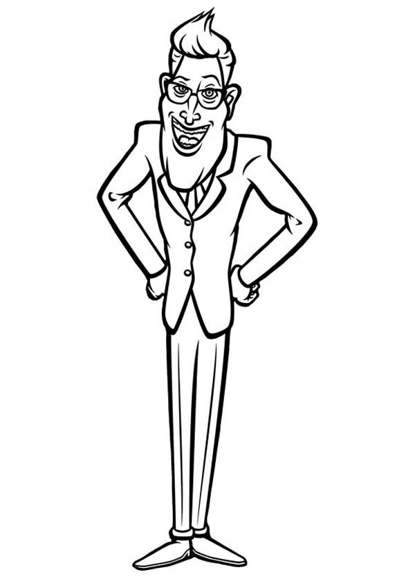 Monsters vs Aliens, : Mr President from Monster vs Aliens Coloring Page