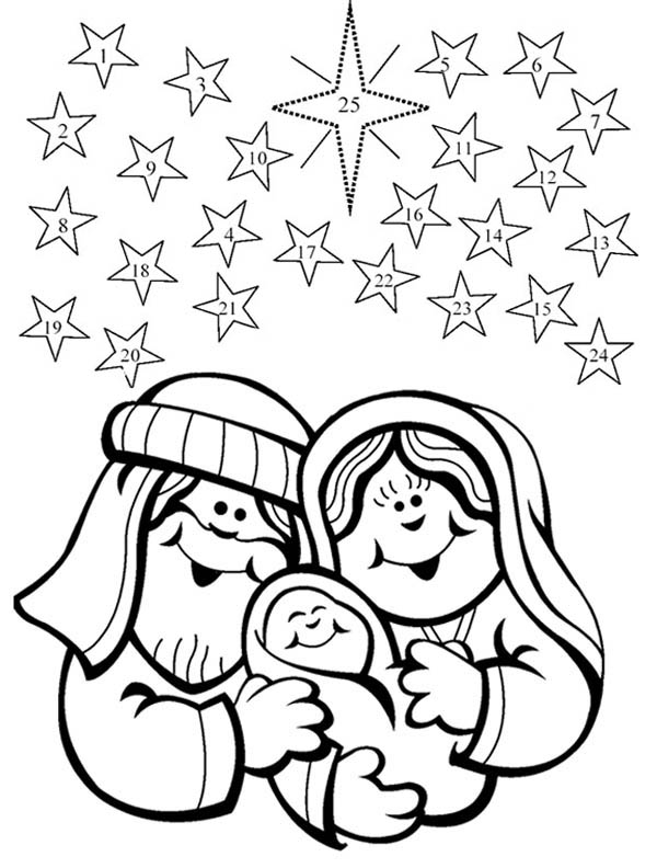 nativity happen in december coloring page with december coloring page