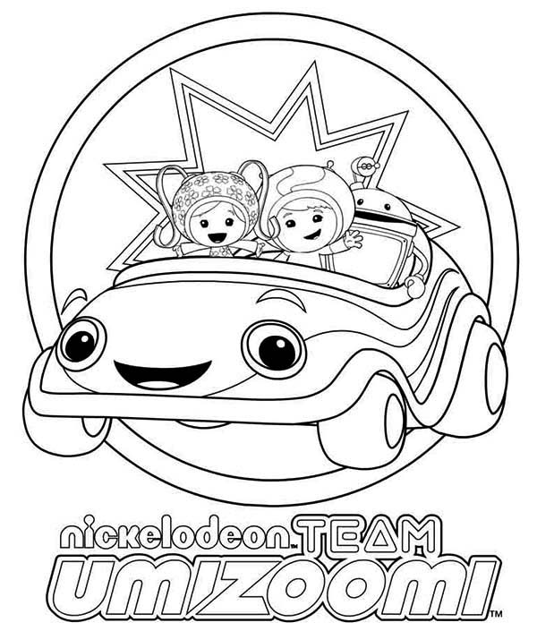 How To Draw Team Umizoomi Coloring Page Color Luna Coloring