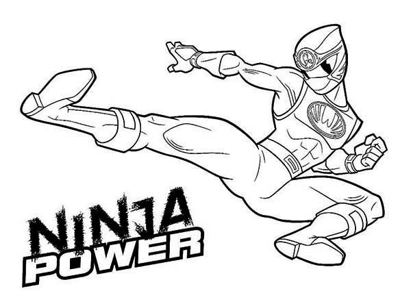 Ninja Power Rangers Coloring Page Color Luna