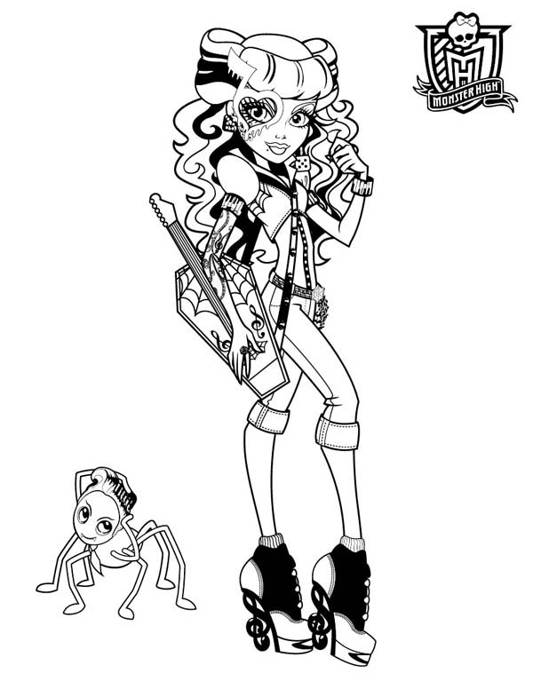 Operetta form in monster high coloring page color luna for Operetta monster high coloring pages