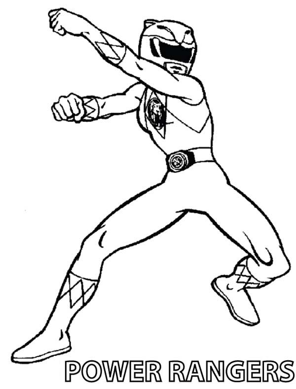 Power Rangers, : Original Power Rangers Coloring Page