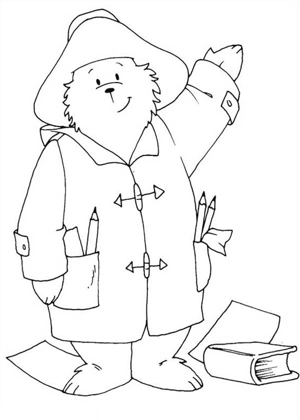 Paddington Bear, : Paddington Bear the Architect Coloring Page