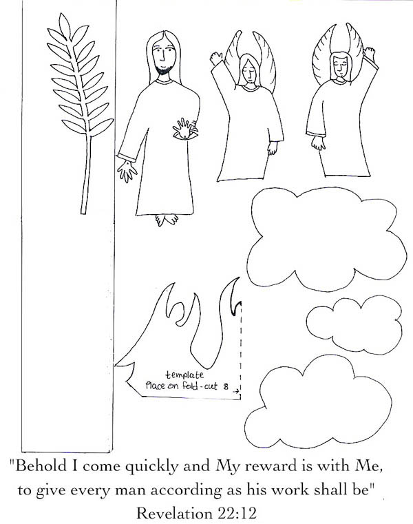 Parable of the Sower, : Parable of the Sower Paper Craft Coloring Page