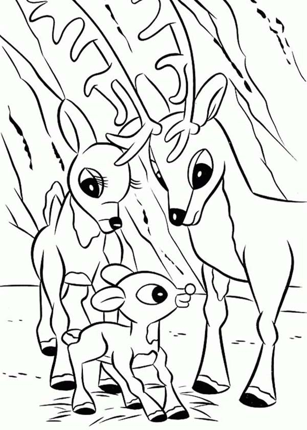parents of rudolph the red nosed reindeer coloring page