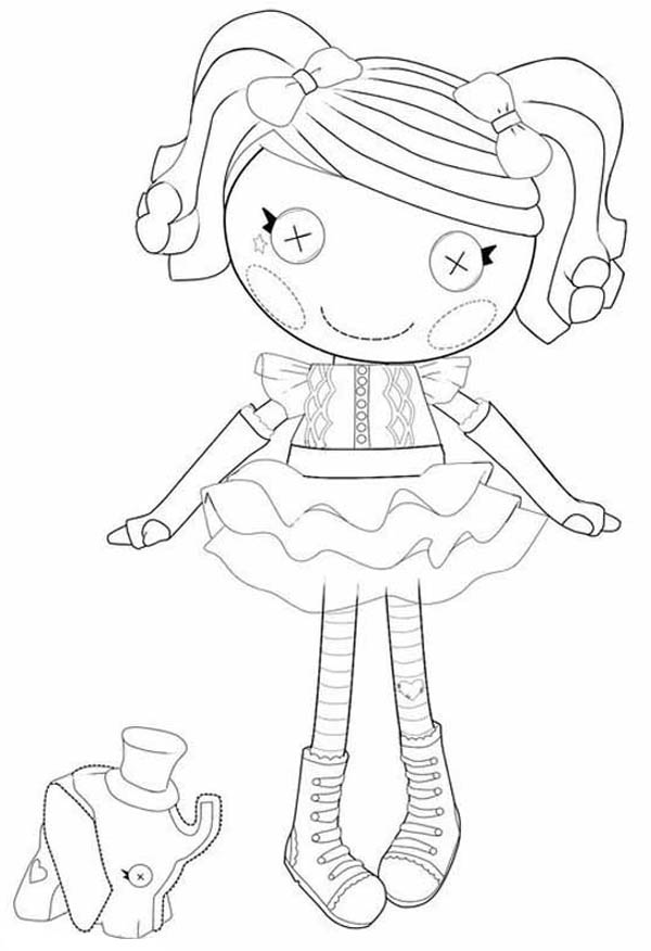 Peanut Big Top Just Clowning Around in Lalaloopsy Coloring Page ...