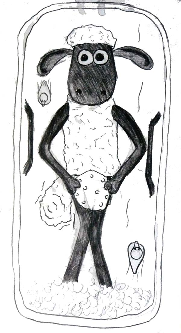 Shaun the Sheep, : Photo of Shaun the Sheep in Frame Coloring Page
