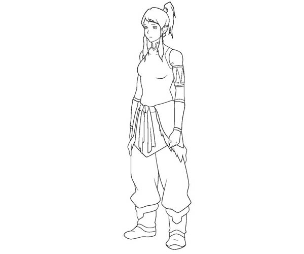 The Legend of Korra, : Picture of Korra Coloring Page