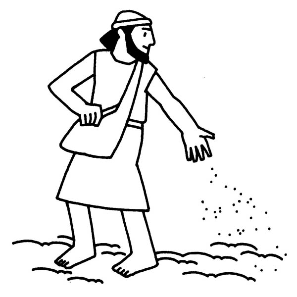 Parable of the Sower, : Picture of Parable of the Sower Coloring Page