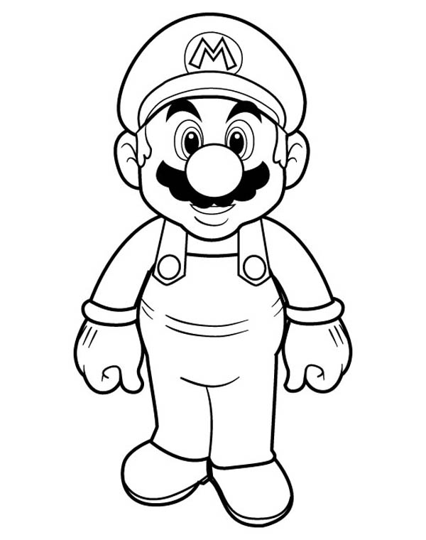 Mario Brothers, : Picture of Super Mario Brothers Coloring Page