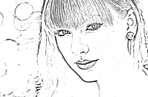 picture of taylor swift coloring page