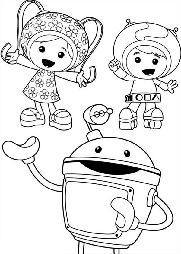 Picture of Team Umizoomi Coloring Page Picture of Team Umizoomi
