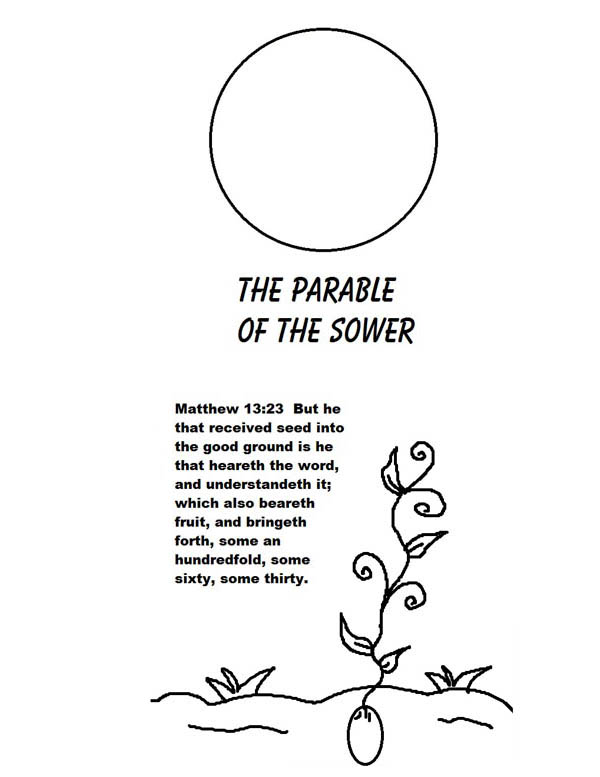 Parable of the Sower, : Picture of The Parable of The Sower Coloring Page