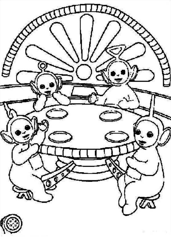 Picture of the Teletubbies Coloring Page Color Luna
