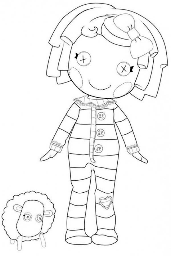 lalaloopsy pillow featherbed from lalaloopsy coloring page - Lalaloopsy Coloring Pages