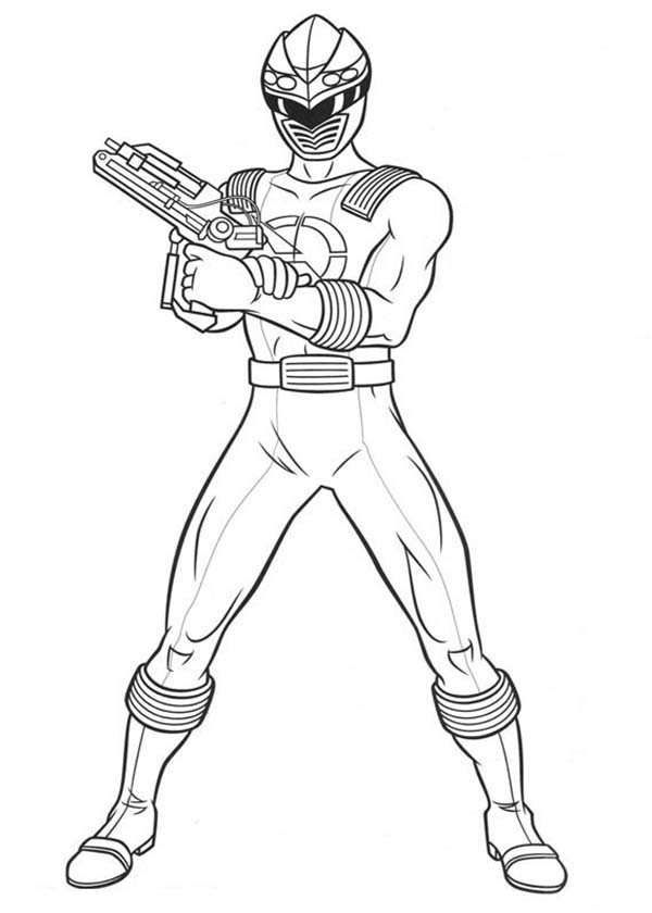 Power Rangers, : Power Rangers Ninja Storm Laser Gun Coloring Page