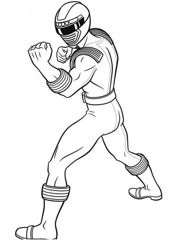 Power Rangers, : Power Rangers Ninja Storm Punch Coloring Page