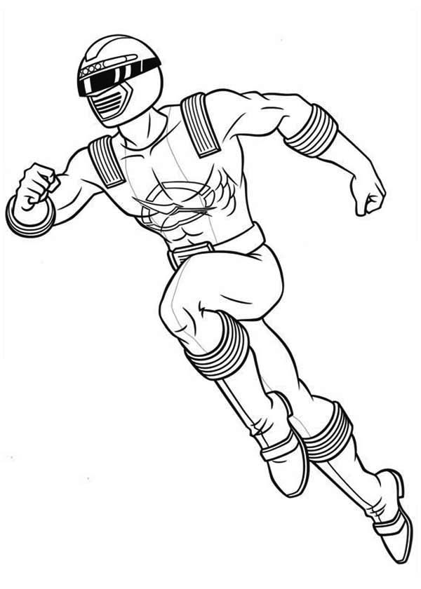 Power Rangers, : Power Rangers Ninja Storm Running Coloring Page