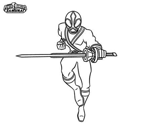 Power Rangers Samurai Coloring Page | Color Luna
