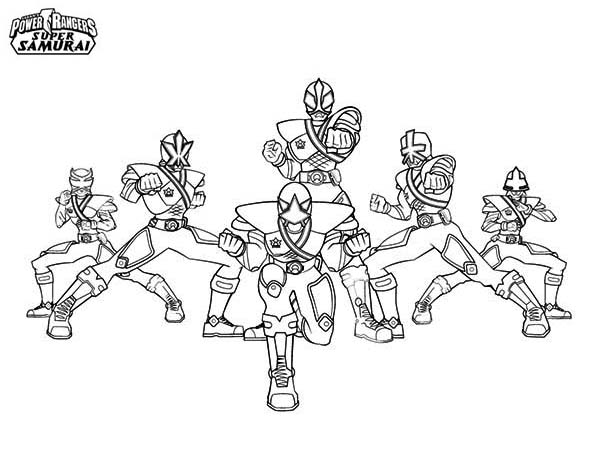 Power Rangers, : Power Rangers Super Samurai Picture Coloring Page