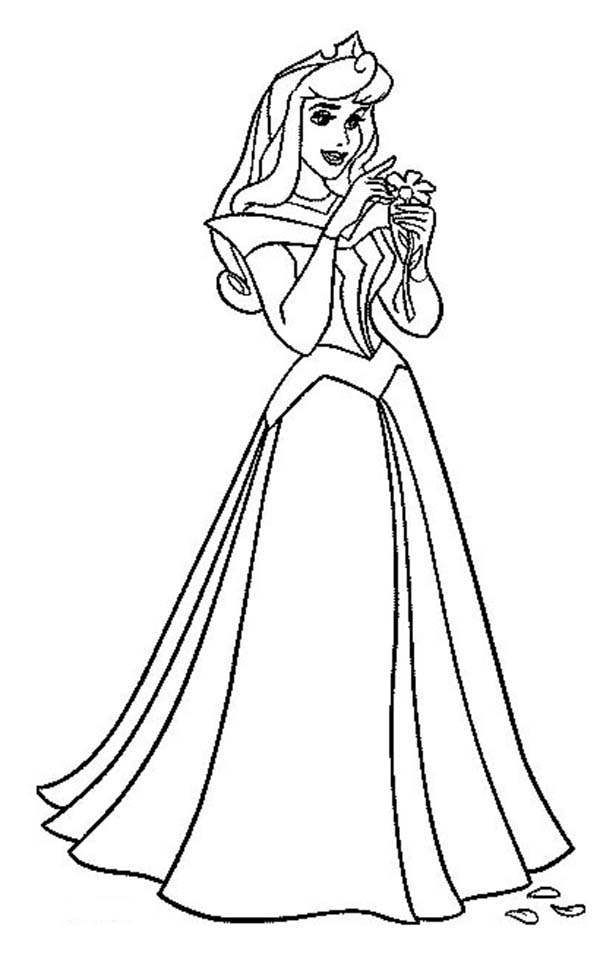Princess Aurora Count Her Luck in Sleeping Beauty Coloring Page