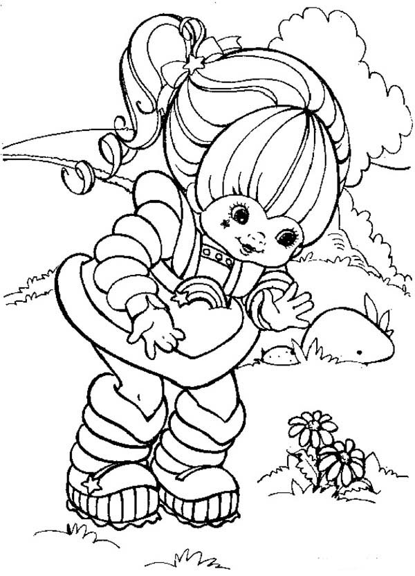 Rainbow Brite, : Rainbow Brite Founf a Beautiful Flower Coloring Page