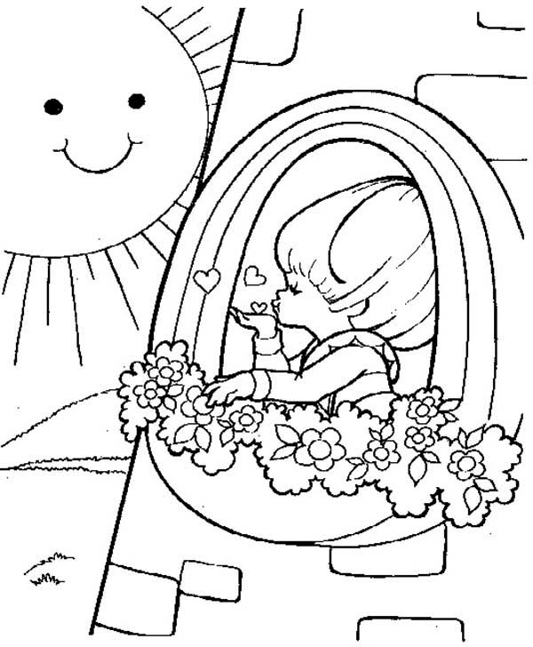 Rainbow Brite, : Rainbow Brite Love the Sun Coloring Page