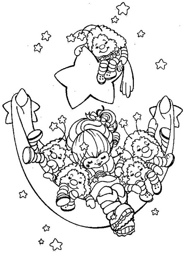 Rainbow Brite, : Rainbow Brite and Friends are Sleeping Coloring Page